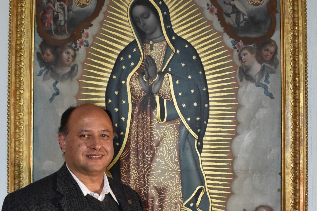 Monseñor Salvador Martínez, rector de la Basílica de Guadalupe. Foto DLF