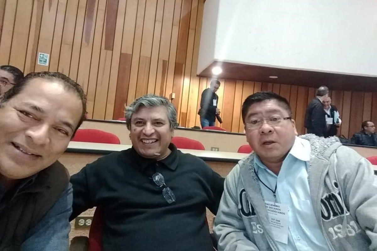 El p. Fortunato, p. Ángel López y p. Chepito. Foto Facebook/josedelossantos