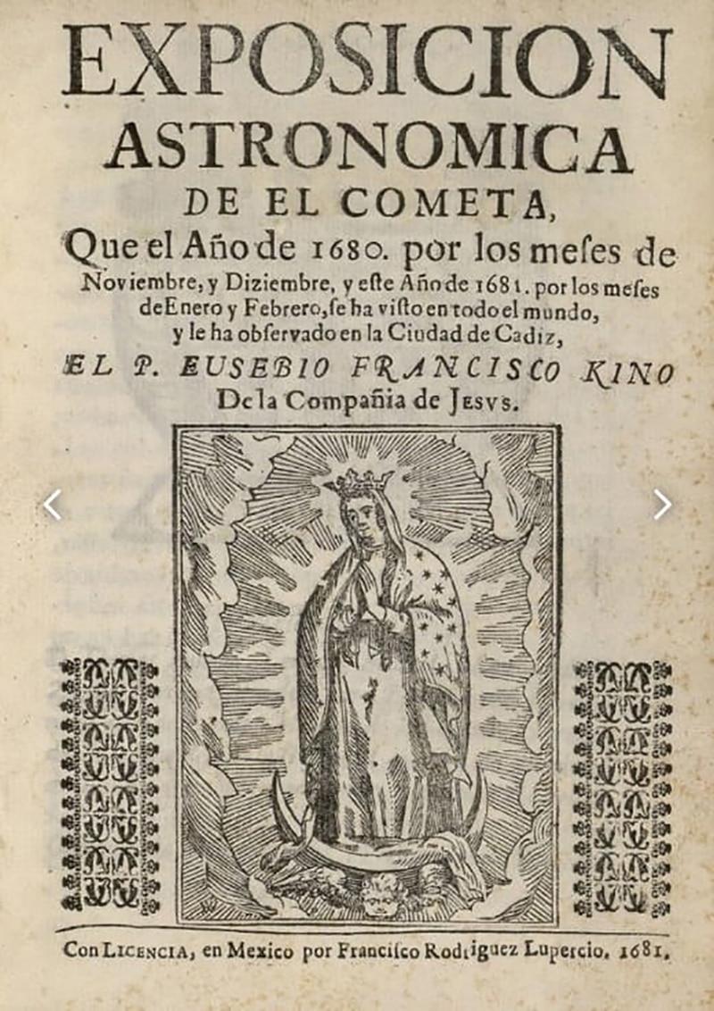 Portada del libro del padre Eusebio Kino.
