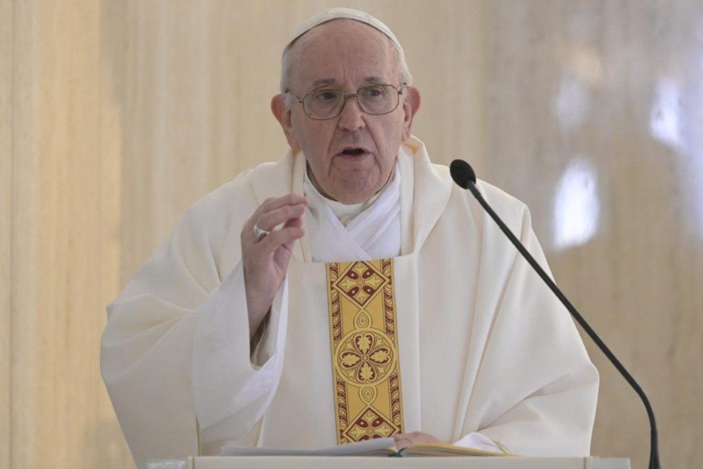 Papa Francisco en la capilla de Santa Marta. Foto: Vatican News.