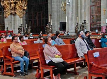 Catedral reanuda Misas con fieles, piden por los fallecidos por COVID-19