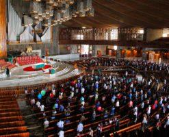 Así se celebran las Misas en Basílica de Guadalupe para evitar contagios
