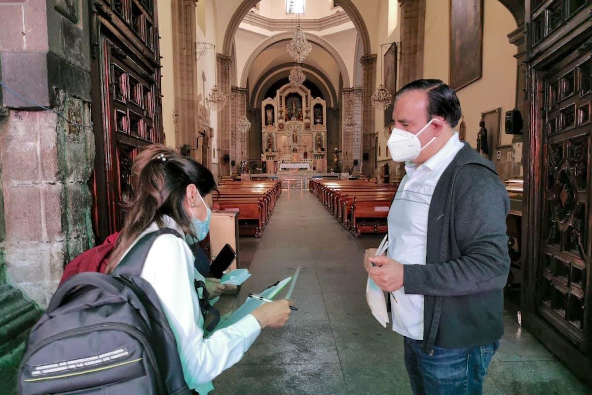 El templo de San Hipólito, uno de los más concurridos de la Ciudad de México, seguirá estrictas medidas sanitarias para prevenir el contagio de COVID-19.