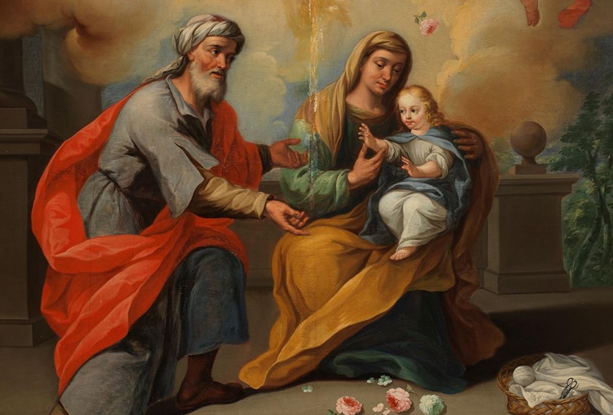 San Joaquín, santa Ana y la Virgen María, pintura en el Museo del Prado.