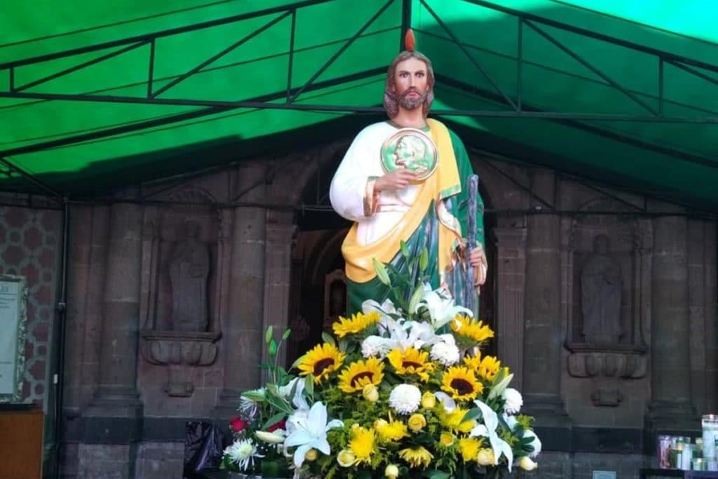 Imagen de San Judas Tadeo. Foto: Facebook Parroquia de San Hipólito.