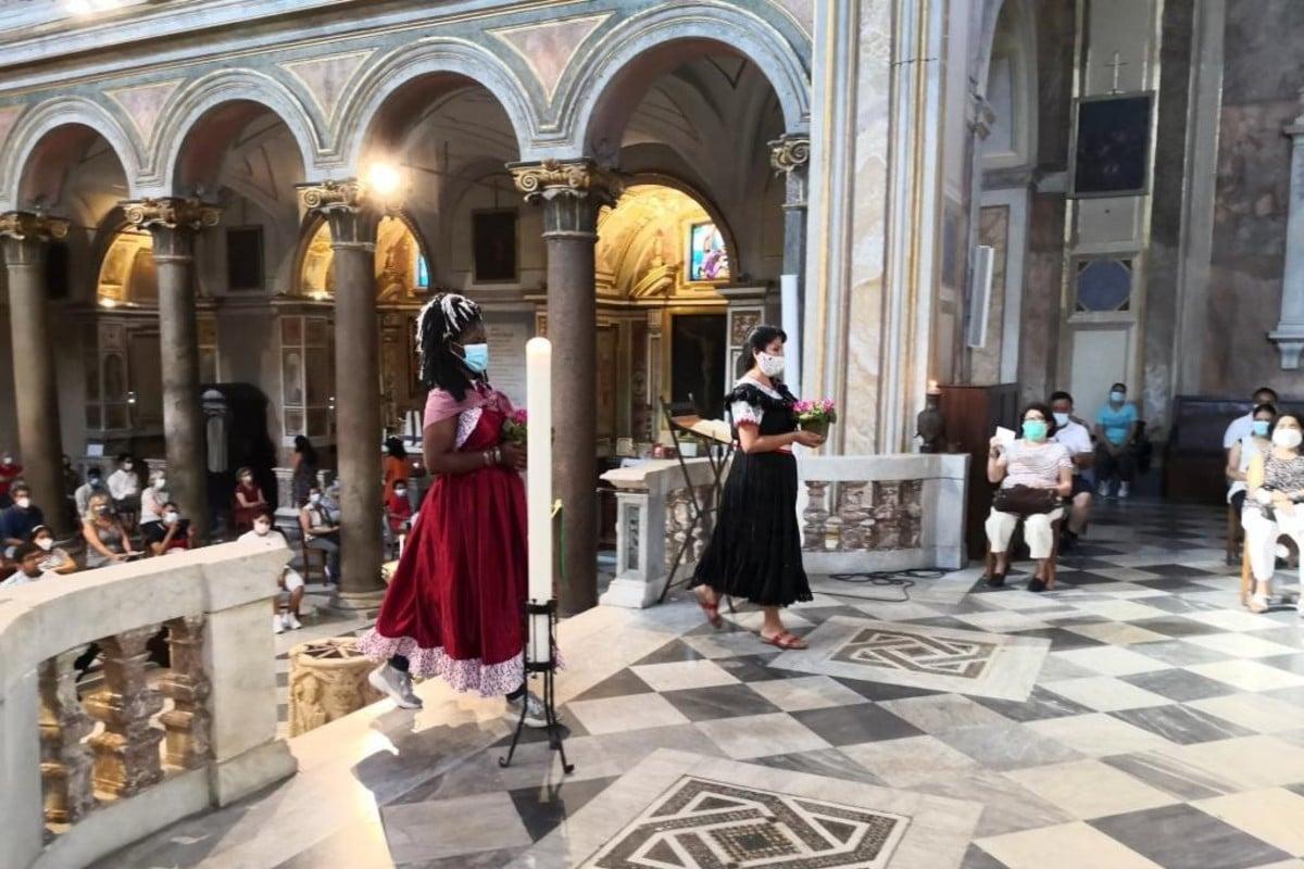 Oración en Roma por las víctimas del coronavirus en América Latina. Foto: San't Egidio.