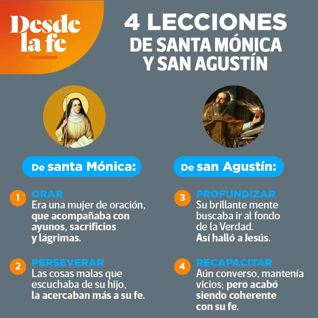 Lecciones de San Agustín y Santa Mónica.