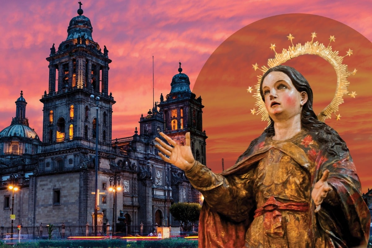 La Catedral de México está dedicada a la Virgen de la Asunción.