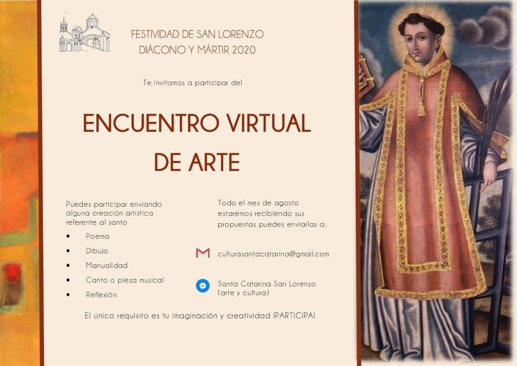 Encuentro virtual de arte de la Parroquia de San Lorenzo.