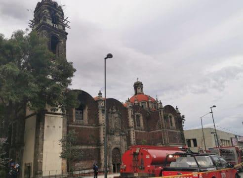 La iglesia de la Santa Veracruz registra daños en campanario y coro