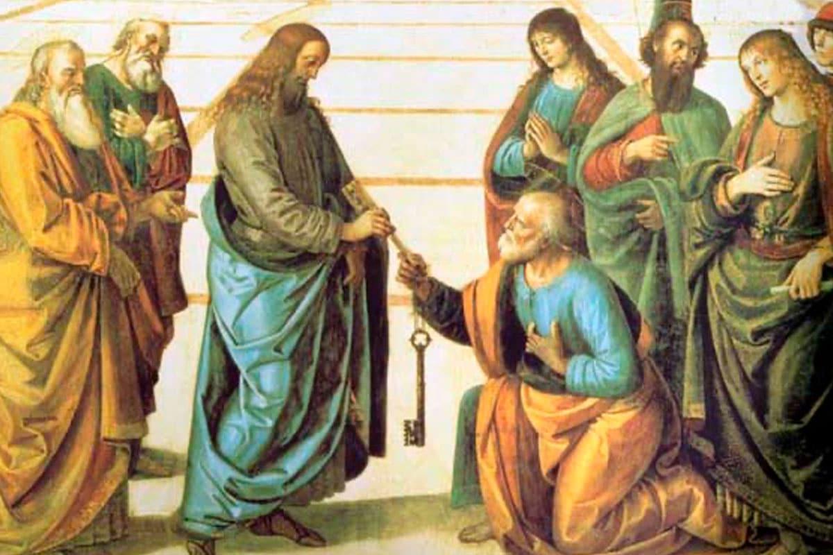 """""""Y yo te digo a ti que tú eres Pedro y sobre esta piedra edificaré mi Iglesia""""."""
