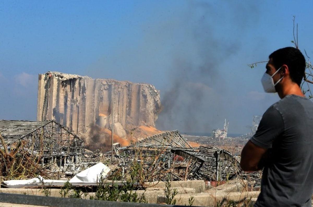 La explosión en Beirut, Líbano, dejó a más de 300,000 damnificados. Foto: EFE