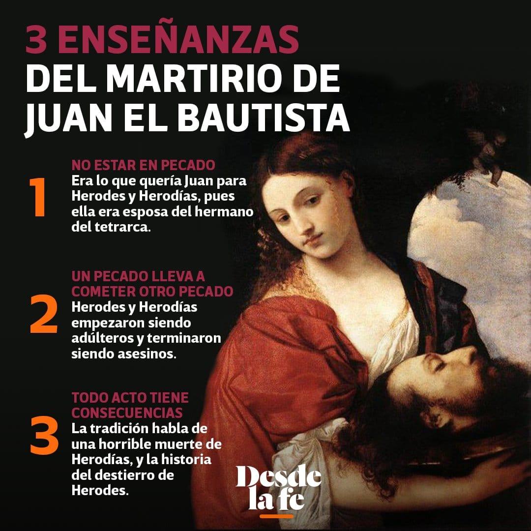 Enseñanzas del martirio de San Juan Bautista.