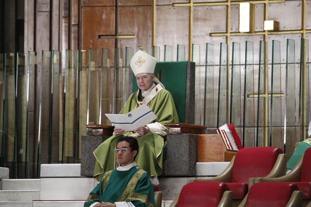 El Arzobispo Primado de México, Carlos Aguiar Retes. Foto. Basílica de Guadalupe/Cortesía.