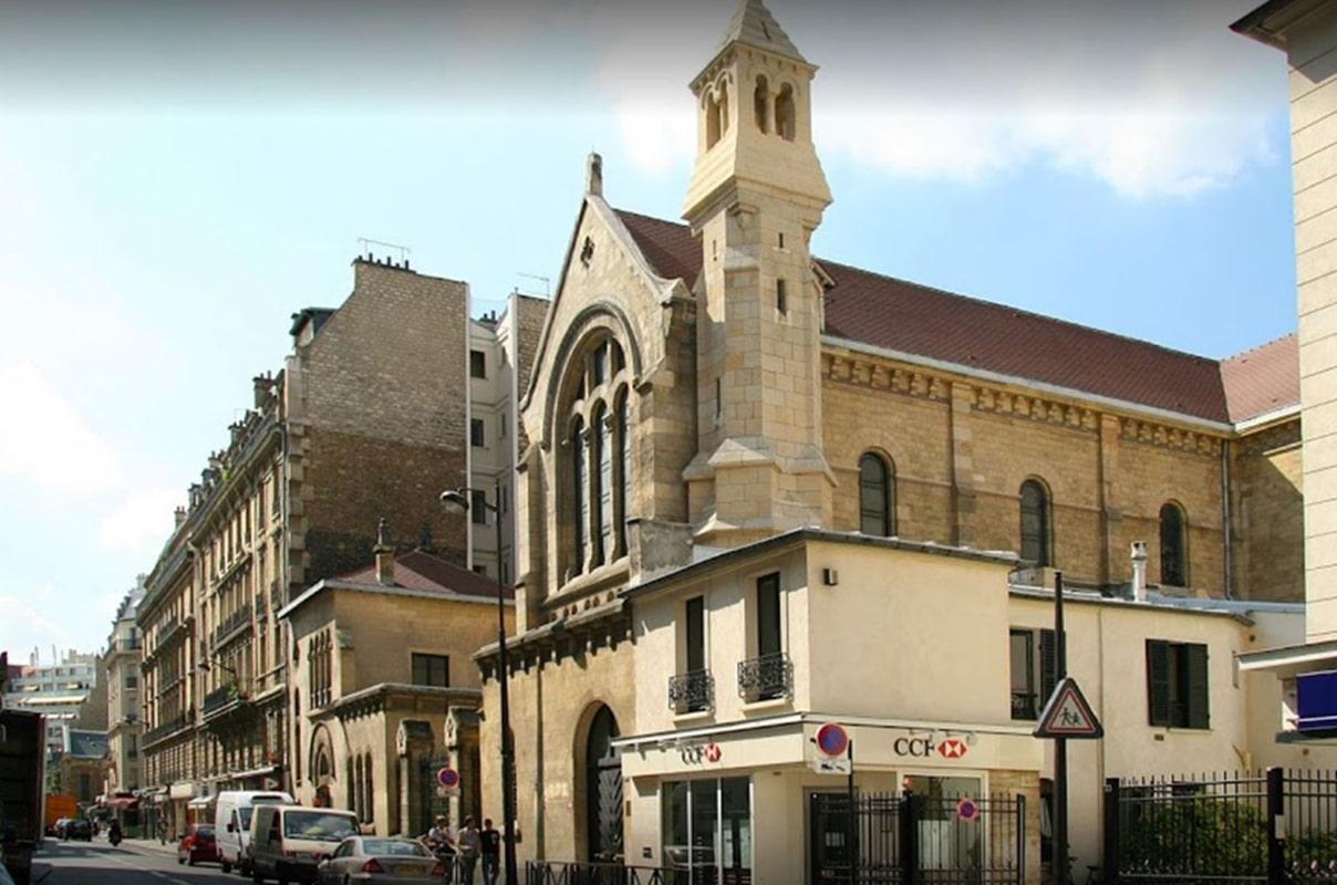 La iglesia de la Misión Católica Española en París.