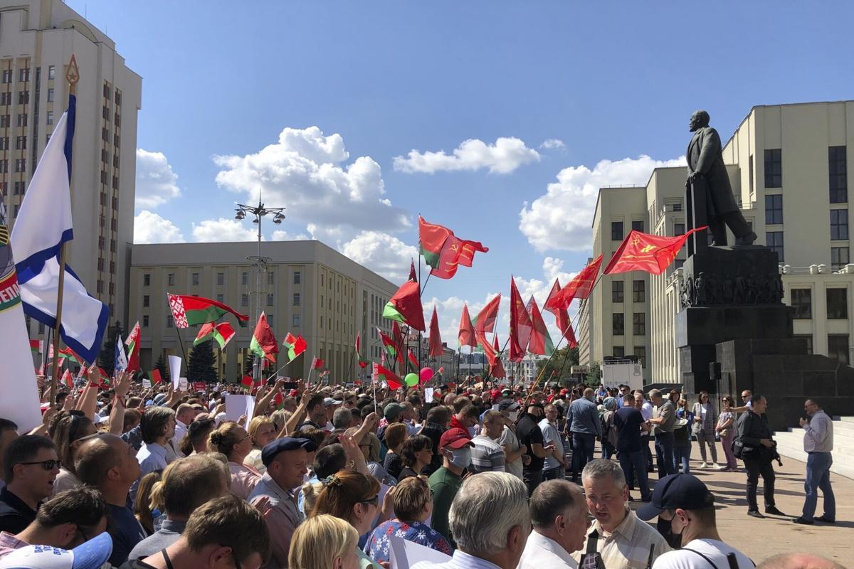 Protestas en Bielorrusia. Foto: Especial