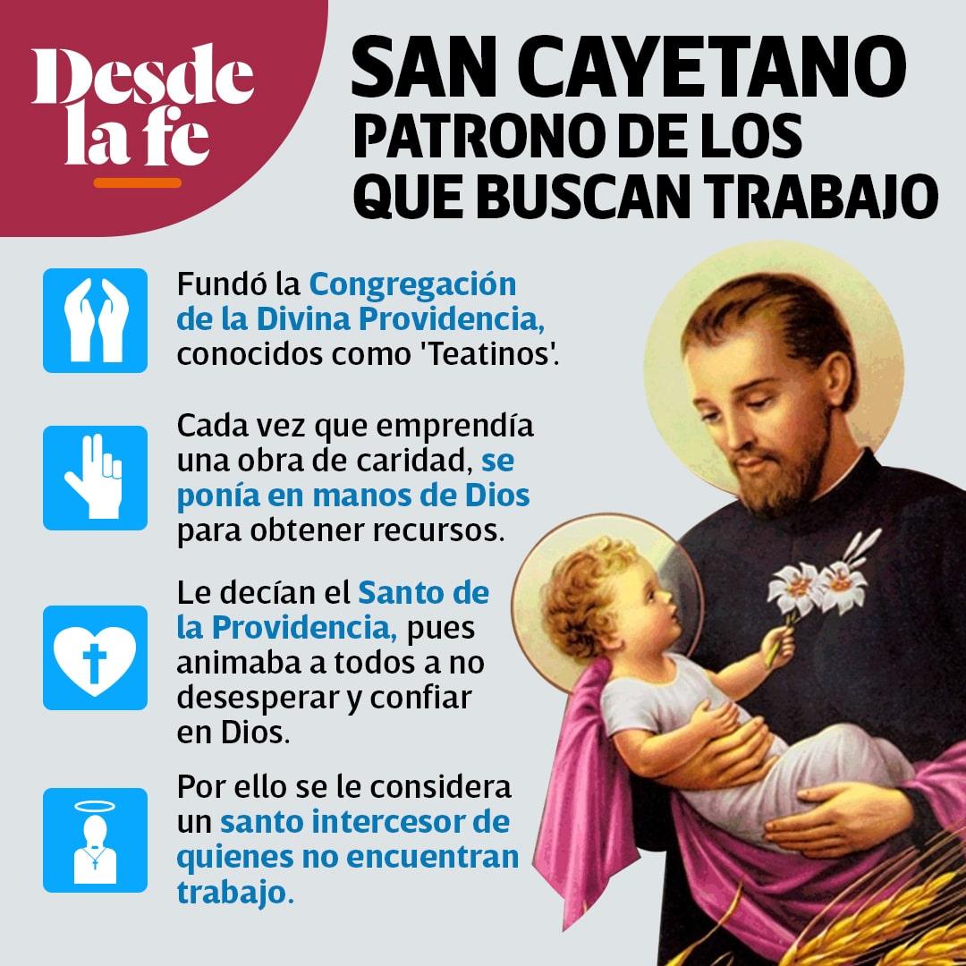 San Cayetano, patrono de los desempleados y los que buscan trabajo.