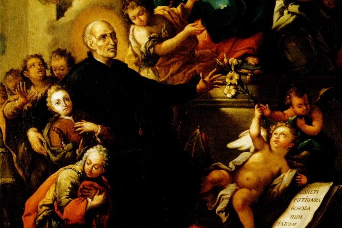 San José de Calasanz, fundador de las Escuelas Pías.
