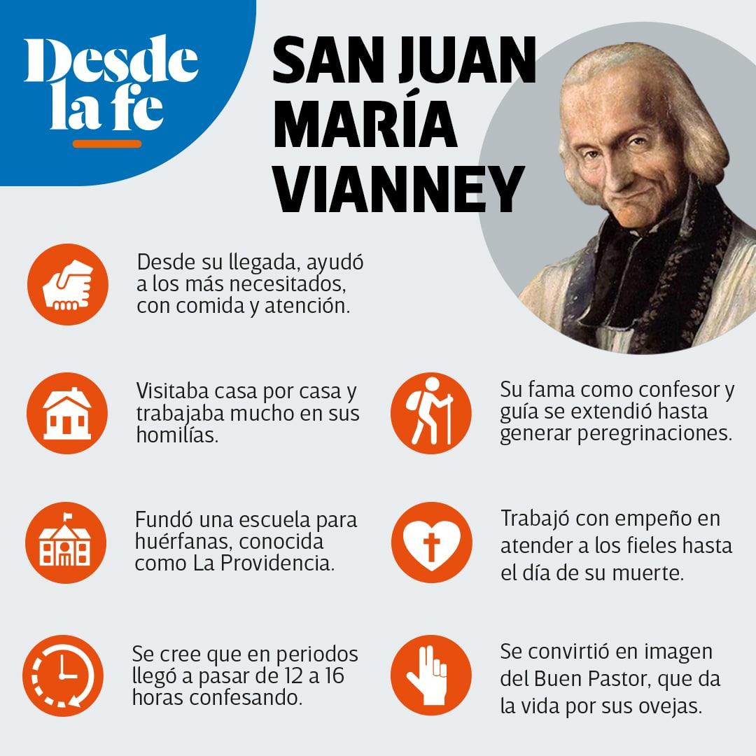 San Juan María Vianney, patrono de los sacerdotes.