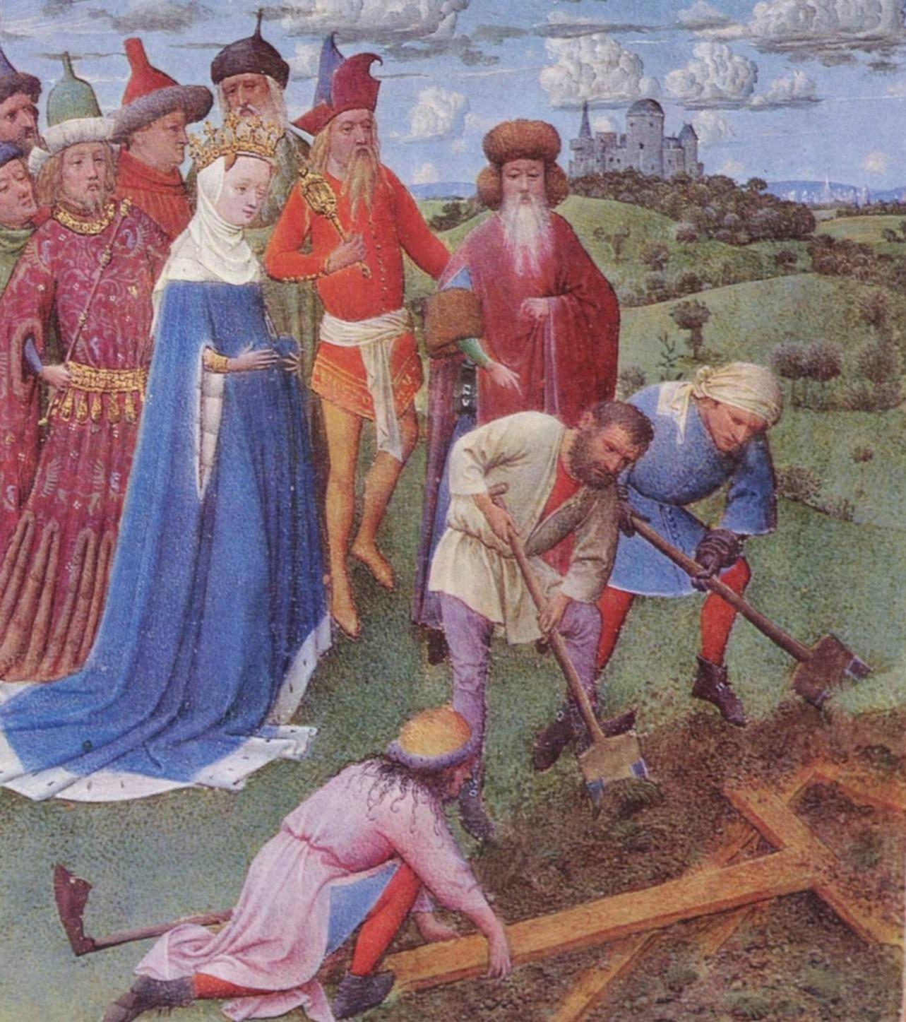 Recuperación de la Cruz por santa Helena, por Jan van Eyck,