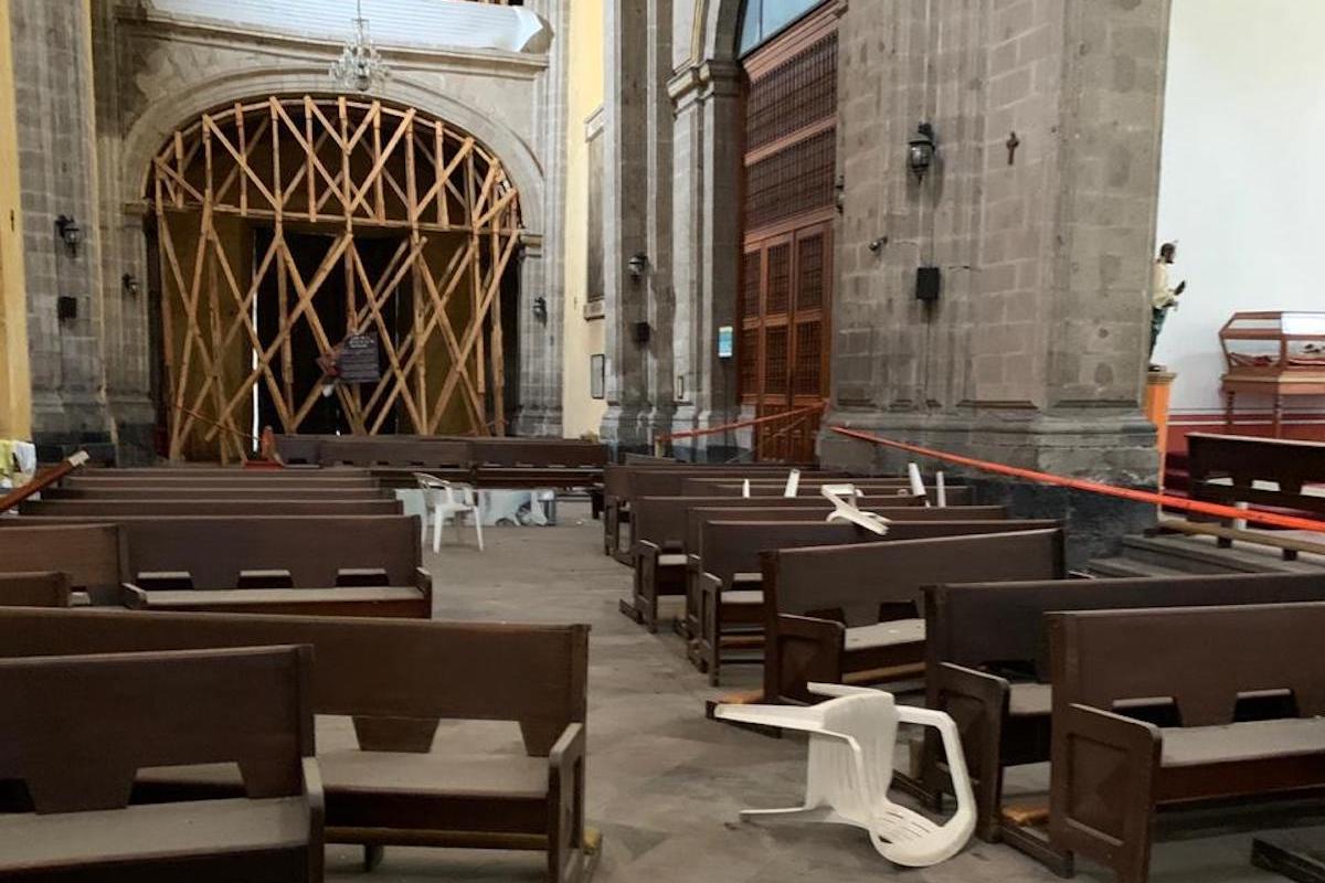 Aún se desconoce por qué punto pudieron ingresar a la Parroquia Santa Veracruz.