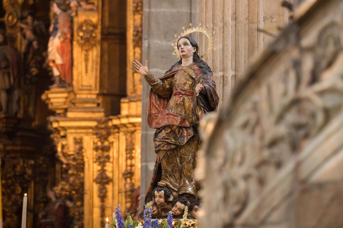 La Virgen María en su Gloriosa Asunción al Cielo. Foto: María Langarica