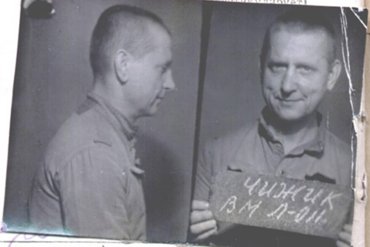 El padre Walter Ciszek, en una foto durante su detención en la Rusia comunista.