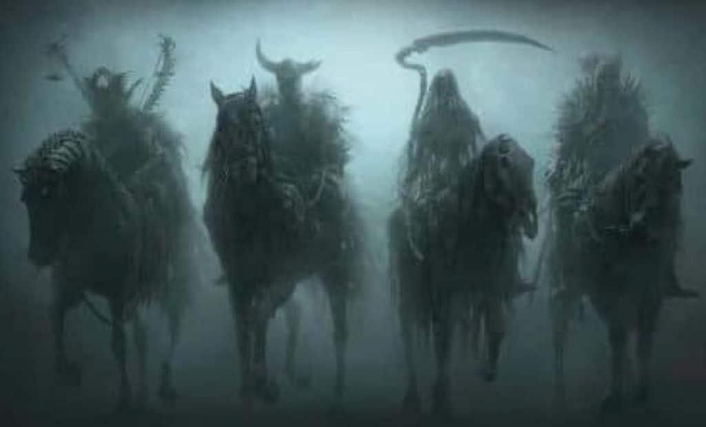 Los llamados jinetes del Apocalipsis.