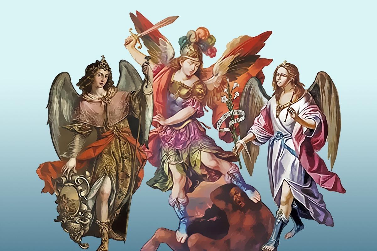 Los arcángeles Miguel, Gabriel y Rafael son mencionados en la Biblia.