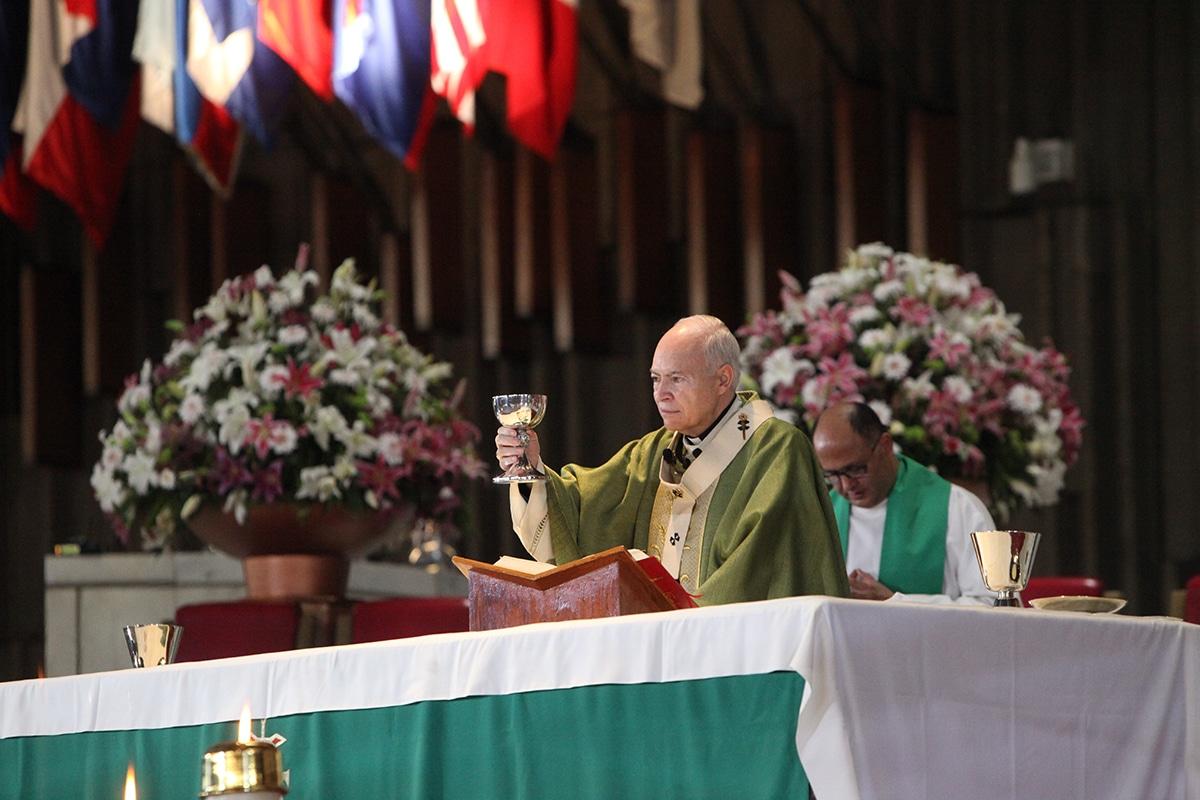 El Arzobispo Carlos Aguiar en la Basílica de Guadalupe. Foto: INBG/Cortesía.