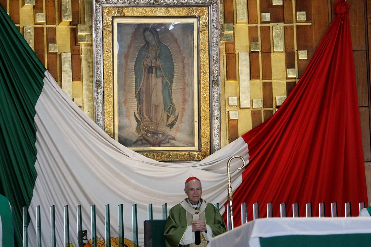 El Arzobispo Carlos Aguiar en la Misa del 13 de septiembre de 2020. Foto: