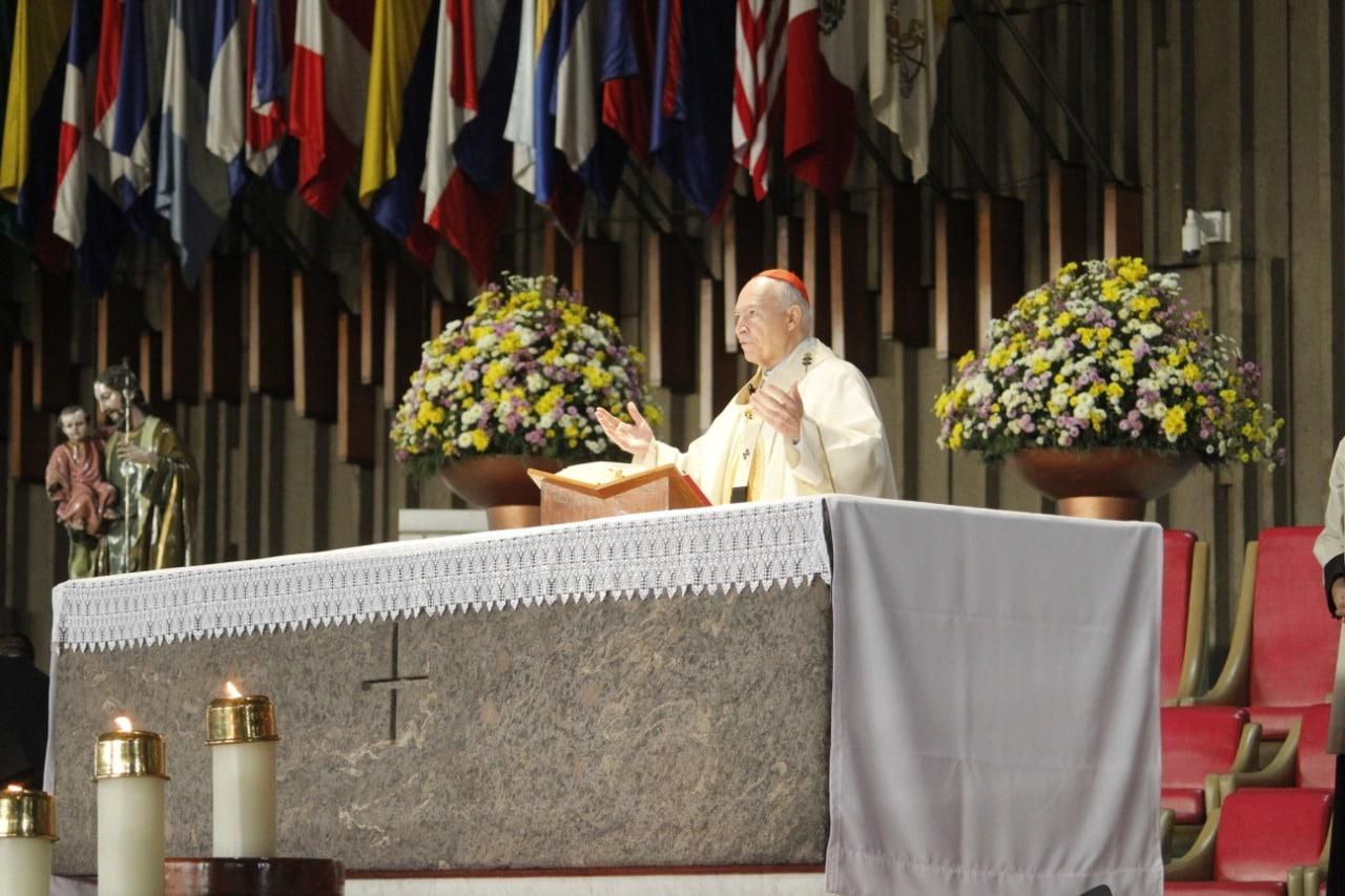El Cardenal Carlos Aguiar Retes, en la Basílica de Guadalupe. Foto: Basílica de Guadalupe