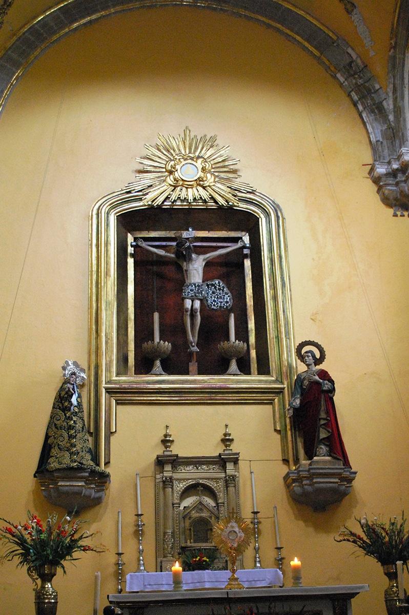 Cristo de los Siete Velos en la Santa Veracruz. Foto: Wikimedia Commons.
