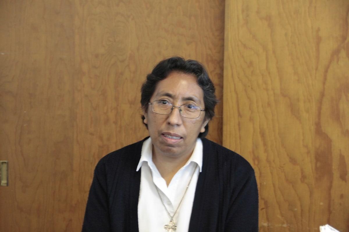 La hermana Juana colabora en Cáritas atendiendo a la población vulnerable. Foto: Alejandro García
