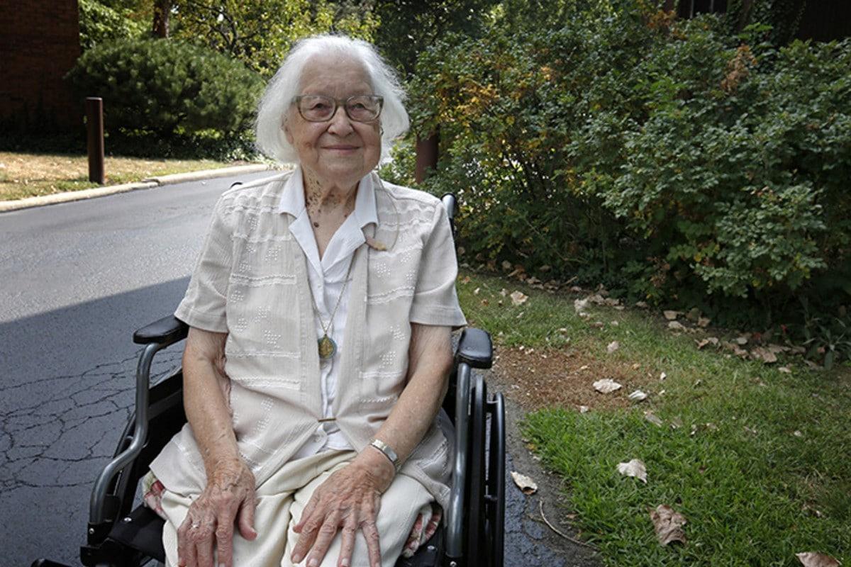 Hermana Vivian Ivantic, la religiosa benedictina más longeva del mundo.