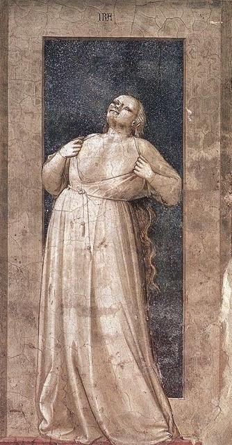Pintura: La Ira, de Giotto di Bondone