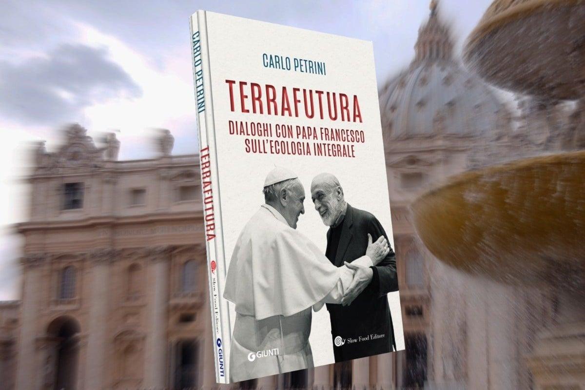 """Portada de llibro """"TerraFutura. Diálogos con el Papa Francisco sobre la ecología integral""""."""
