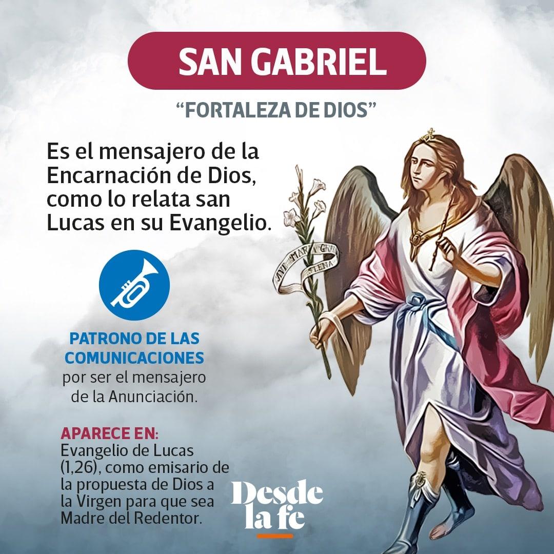 El arcángel San Gabriel.
