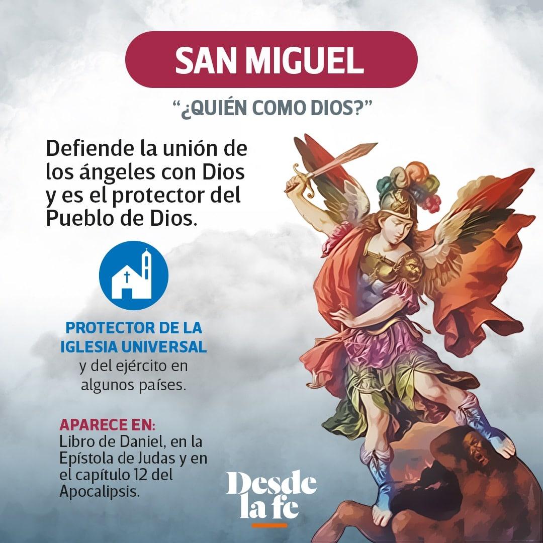 El arcángel San Miguel.