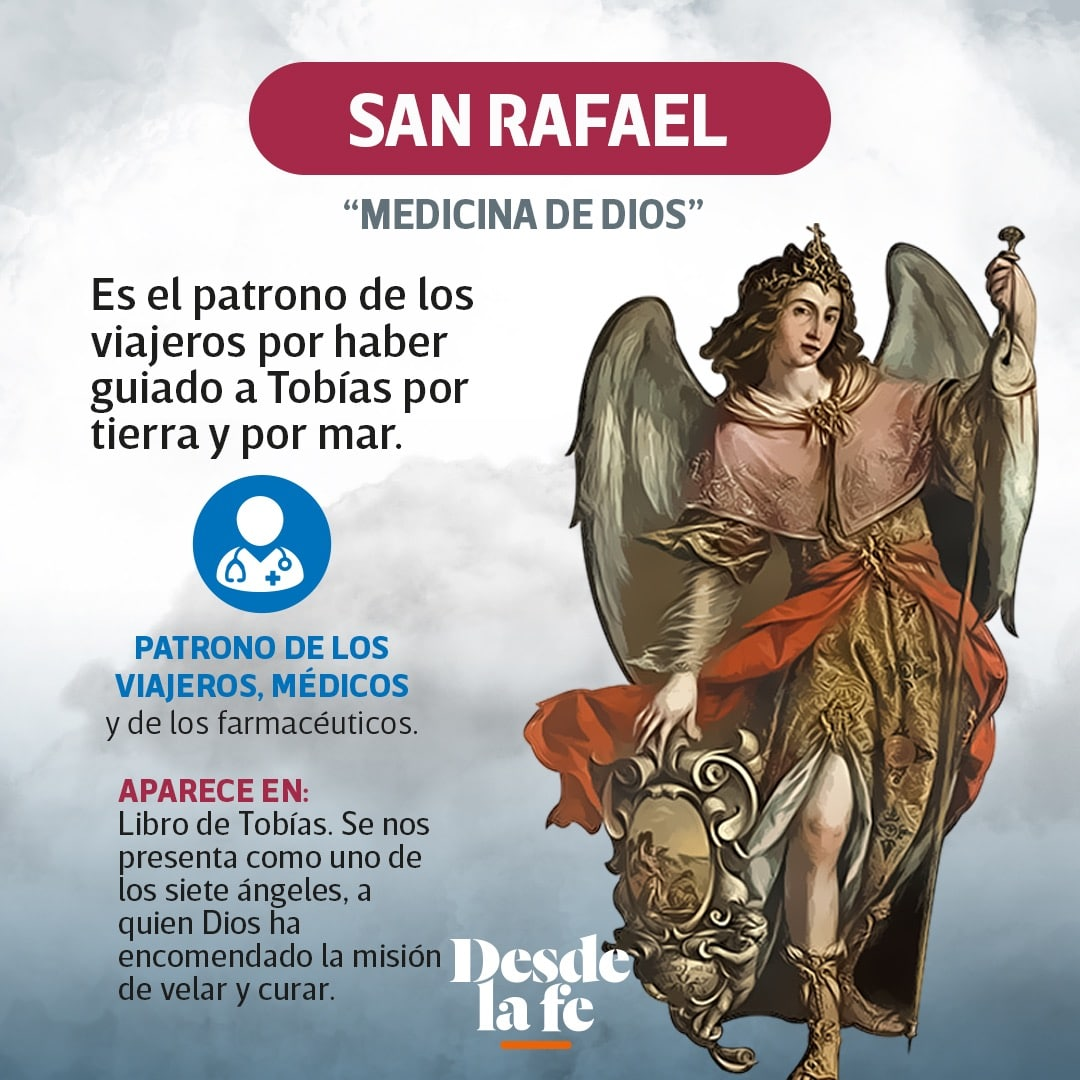 El arcángel San Rafael.