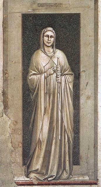 Pintura: La Templanza, de Giotto di Bondone