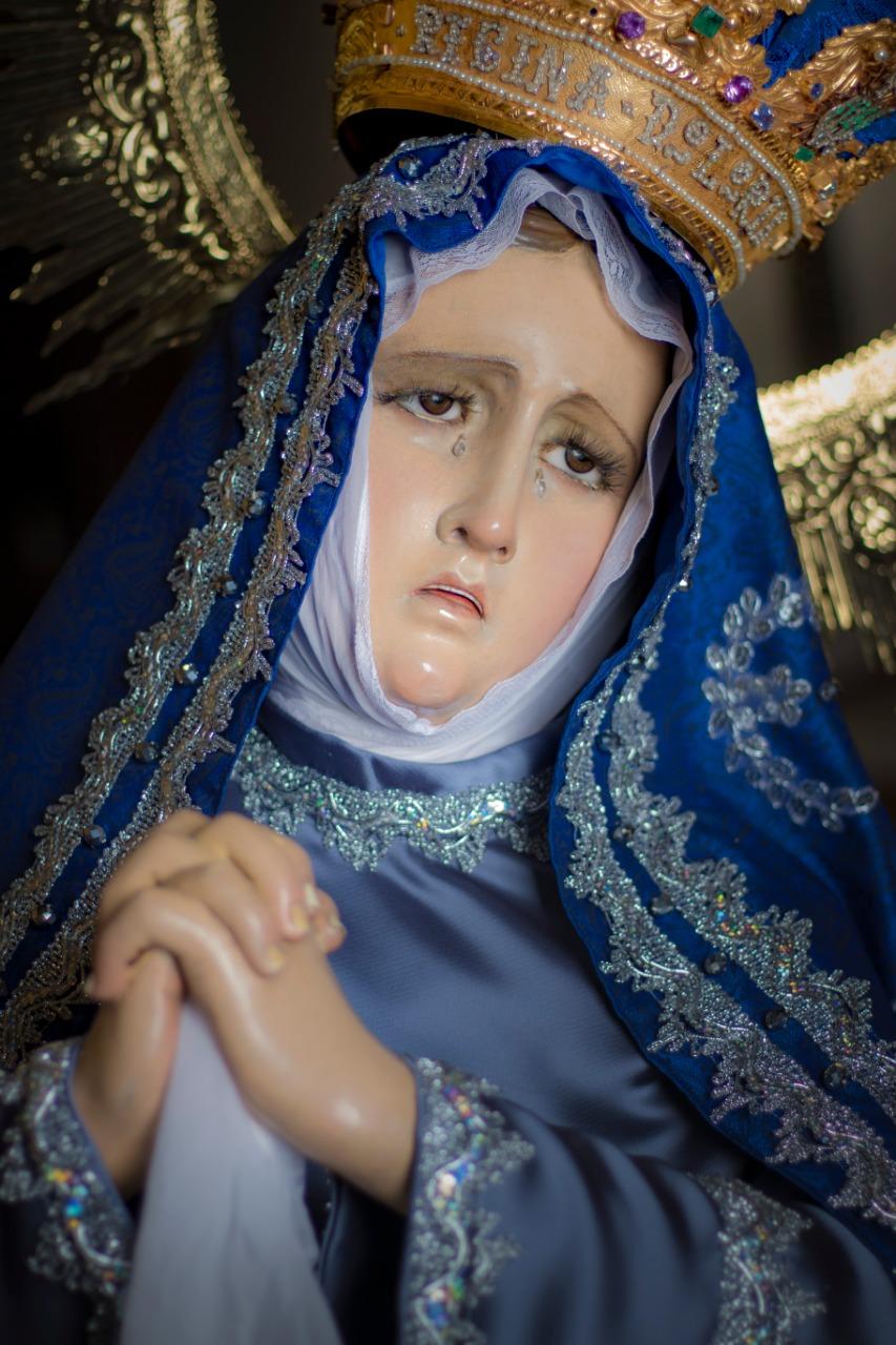 Detalle de la imagen de Nuestra Señora del Consuelo.