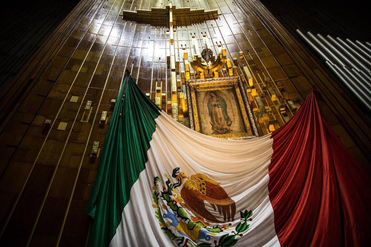 La imagen de la Virgen de Guadalupe en su santuario. Foto: María Langarica