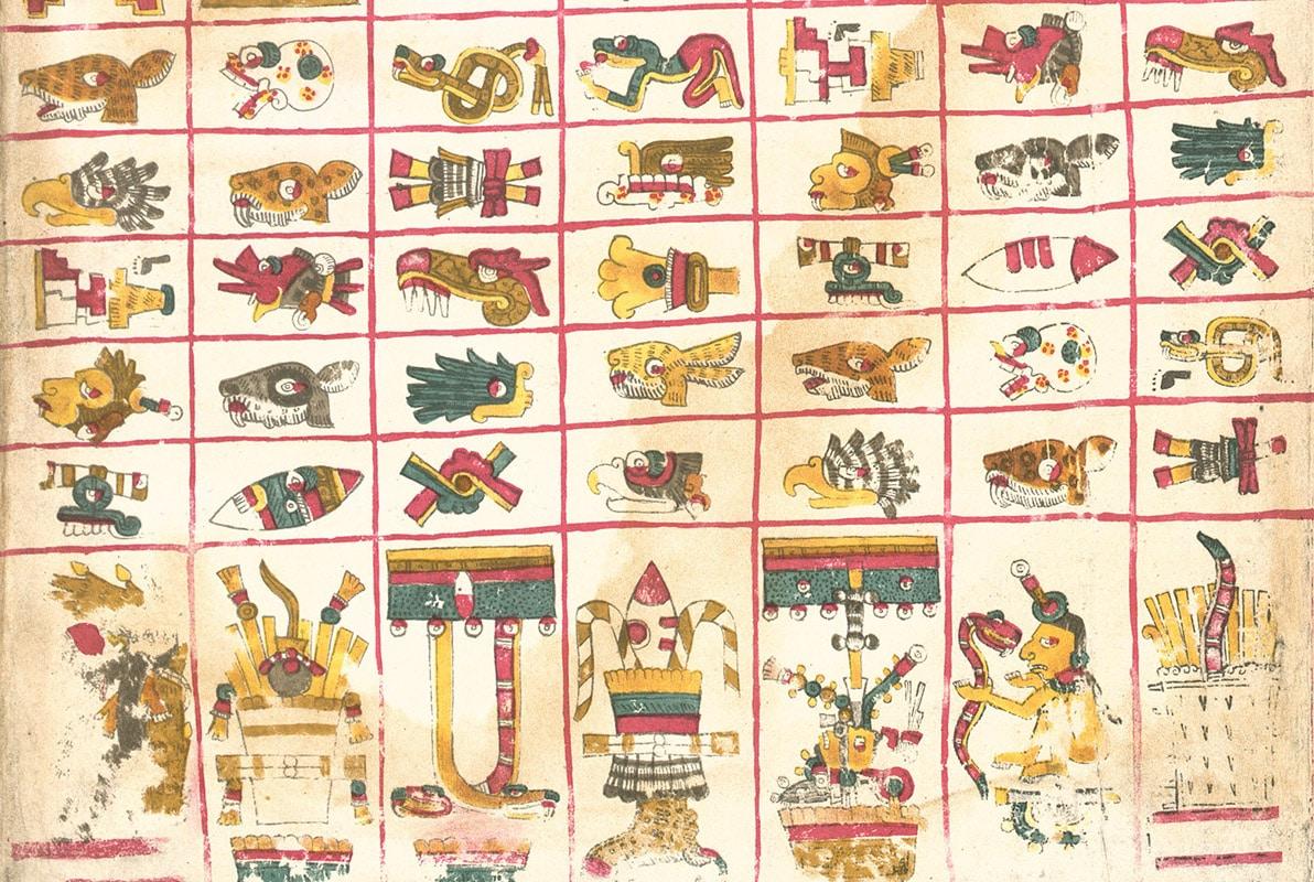 Una página del Códice Borgia.