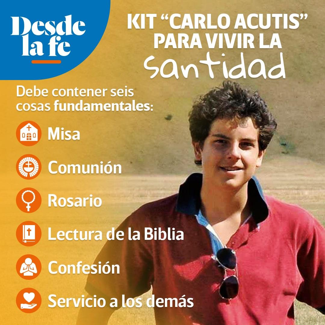 Kit para alcanzar la santidad de Carlo Acutis.