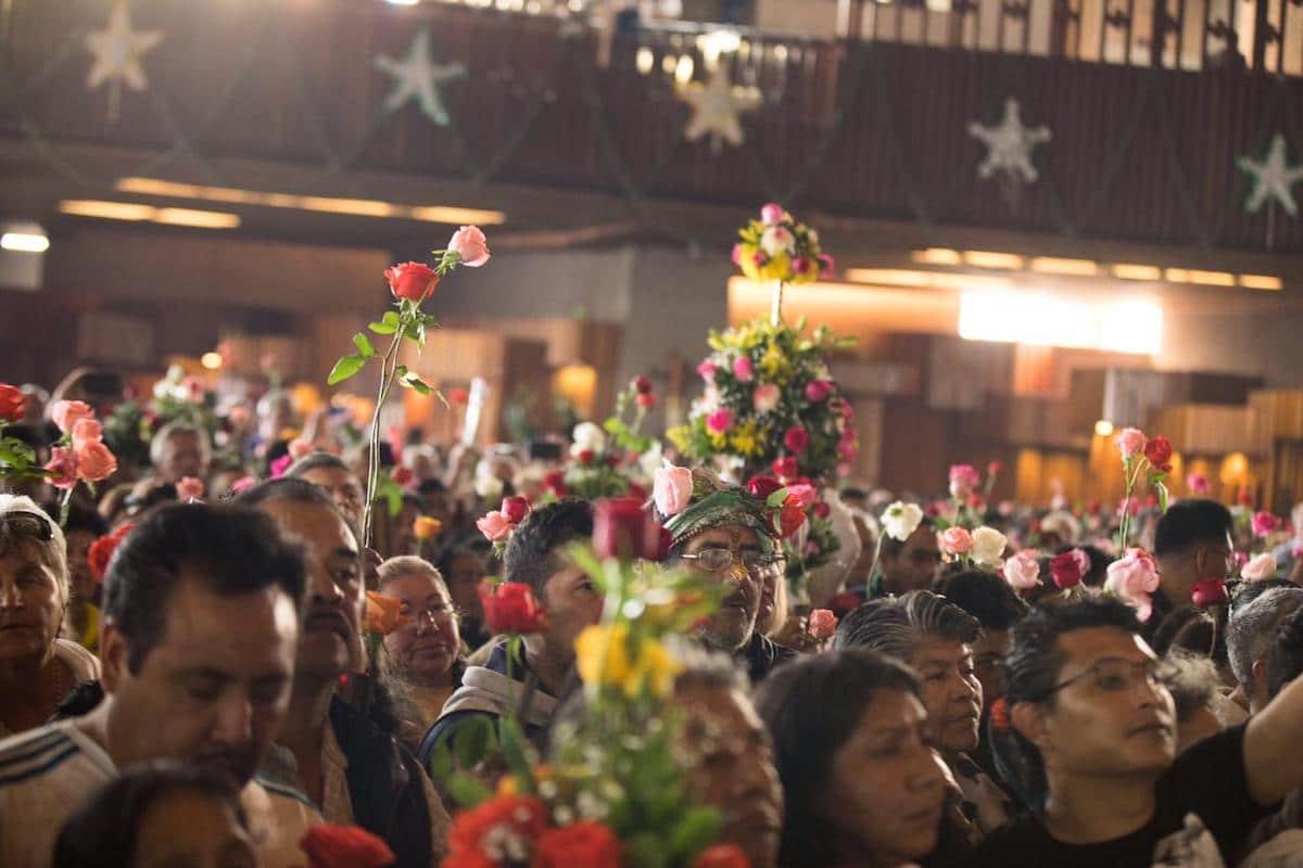 Interior de la Basílica de Guadalupe en la Misa de las rosas 2019. Foto: María Langarica