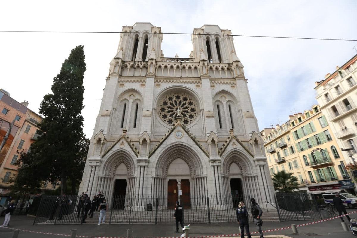 Basílica de Notre-Dame, de Niza. Foto: Twitter @cestrosi