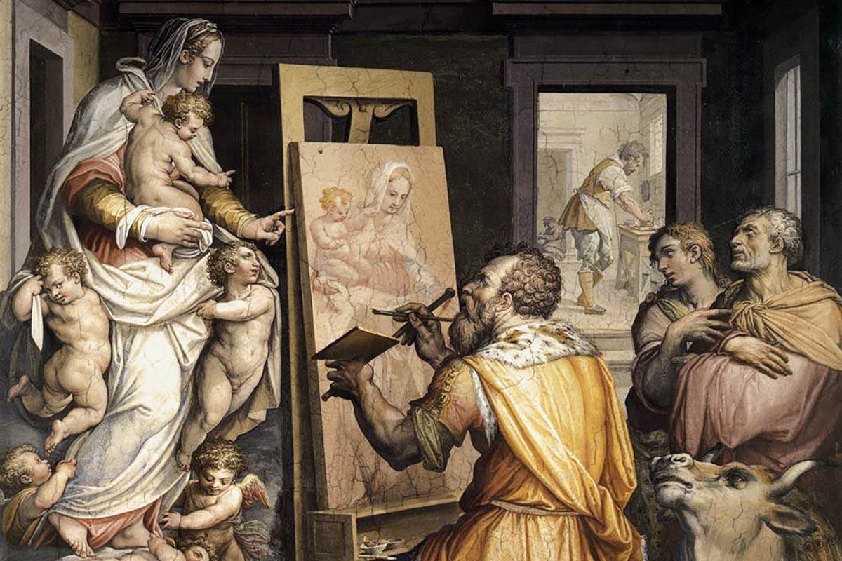 Giorgio Vasari, San Lucas pintando a la Virgen, (1565)