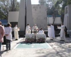 """""""Obispos COVID-19"""" celebran Misa en el Hospital General de México"""