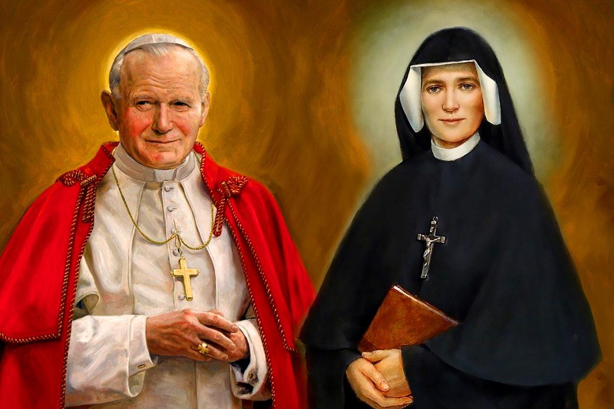 Tanto san Juan Pablo II como santa Faustina Kowalska fueron apóstoles de la Divina Misericordia.